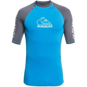 Quiksilver On Tour Camiseta Manga Corta Hombre, azul/gris